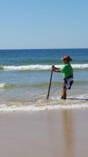 Beach Fisherman Clams Sunnydays Portugal