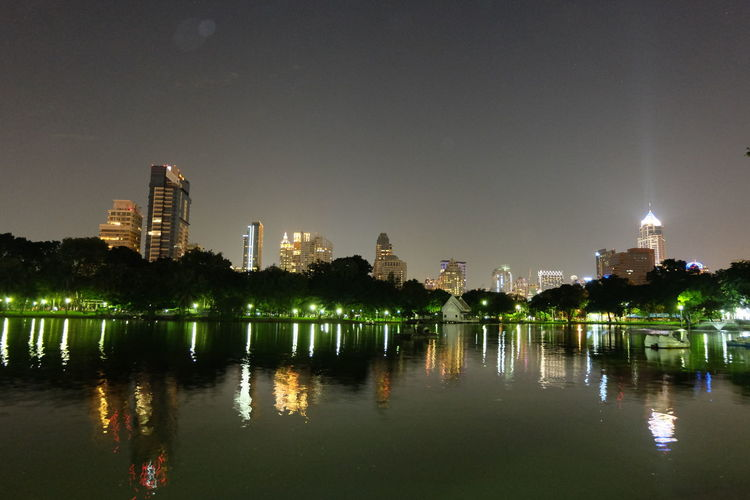 Architecture City Cityscape In The Park Lake Night Lights Nightphotography Outdoors Park Park At Night Town Water