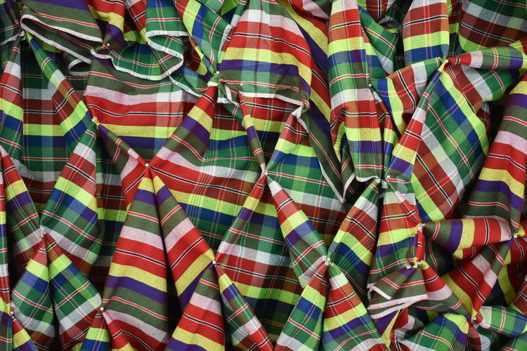 traditional colorful silk coth texture pattern as background Multi Colored Backgrounds Pattern Full Frame Textile No People Close-up Indoors  Clothing