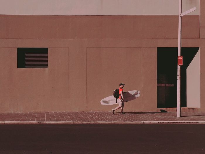 Surfboard Urban Landscape Red Urban Geometry Streetphoto_colour The Street Photographer - 2016 EyeEm Awards The Graphic City