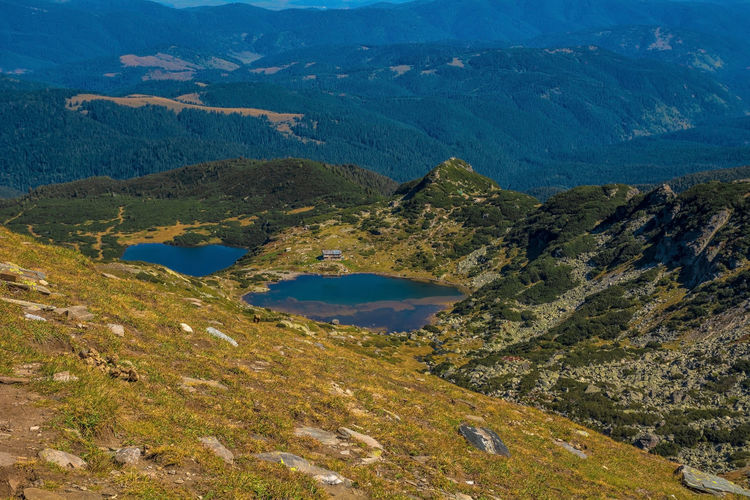 Seven Rila Lakes, Bulgaria Mountain Scenics - Nature Beauty In Nature Tranquil Scene Tranquility Non-urban Scene Environment No People Landscape Nature Day Mountain Range Plant Idyllic High Angle View Tree Green Color Outdoors Remote Land Formation Mountain Peak Lake Nature Nature Photography
