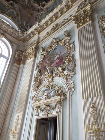 Altar Architectural Column Architecture Arts Culture And Entertainment Baroque Style Built Structure Day Gold Colored History Human Representation Indoors  Low Angle View Music Musical Instrument Musical Theater  No People Ornate Place Of Worship Sculpture Spirituality Statue Travel Destinations