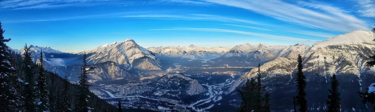 Banff Alberta Banff Springs Hotel Banff National Park  Backgrounds Outdoors Tranquility Winter Beauty In Nature Cold Temperature Nature Sky