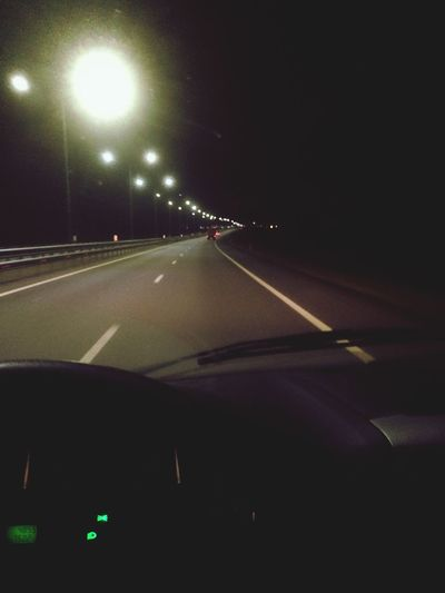 Road and you Transportation Car Illuminated Night Road Land Vehicle Mode Of Transport Speed Street Light No People Car Point Of View The Way Forward