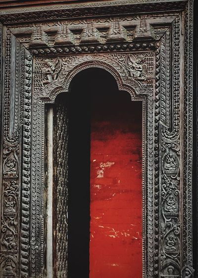 The Secret Door Faces Door Architecture Built Structure Arch Entrance No People Pattern Door History Old The Past Day Design Ancient