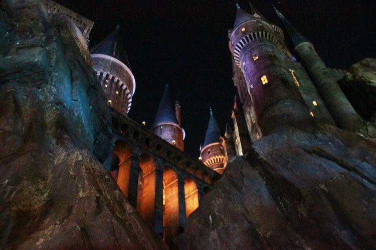 Harry Potter castle Orlando   Harrypotter Harry Potter Hogwarts Night Castle United States Universal Universal Orlando Castle Light Orlando Orlando Florida