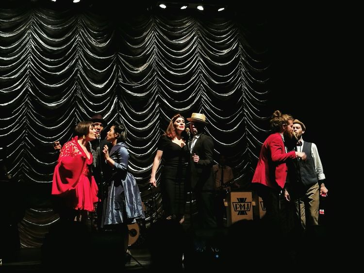 What a Show Talented Bunch Of People Postmodernjukebox Happy To See It Music Is Life Music Brings Us Together Stage Lights Beautiful People Sommergefühle Performing Arts Event Old-fashioned Love ♥ HuaweiP9