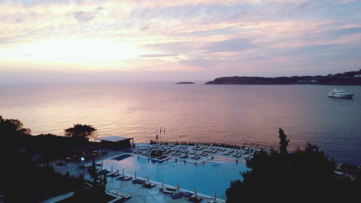 Sunset at Athens Riviera Vouliagmeni