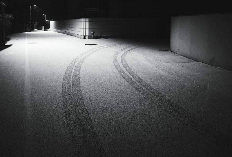 Cold Temperature Built Structure Wet Water Architecture No People Nature Indoors  Day Snow ❄ Snowing Winter The Way Forward Night Lights City Street City Life Night Nightphotography Everyday City Street Throw A Curve Nightout Car Tracks Tracks In The Snow Adapted To The City The City Light