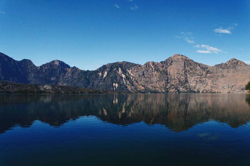 Lake Mountain Reflection Lake Tranquil Scene Blue Mountain Range Scenics Nature Beauty In Nature Clear Sky