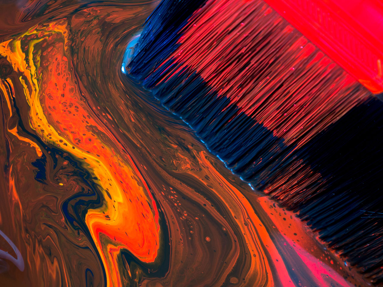 Detail shot of abstract painting