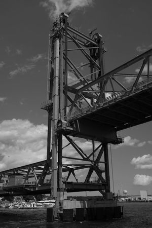 Black & White Black And White Built Structure Draw Bridge Engineering Low Angle View