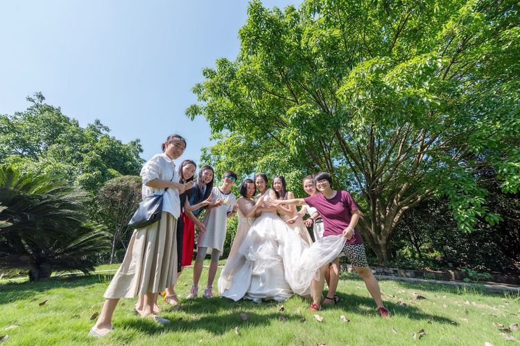 Wedding Wedding Happiness Lucky Beautiful Girl Sunshine Wish Friends So True