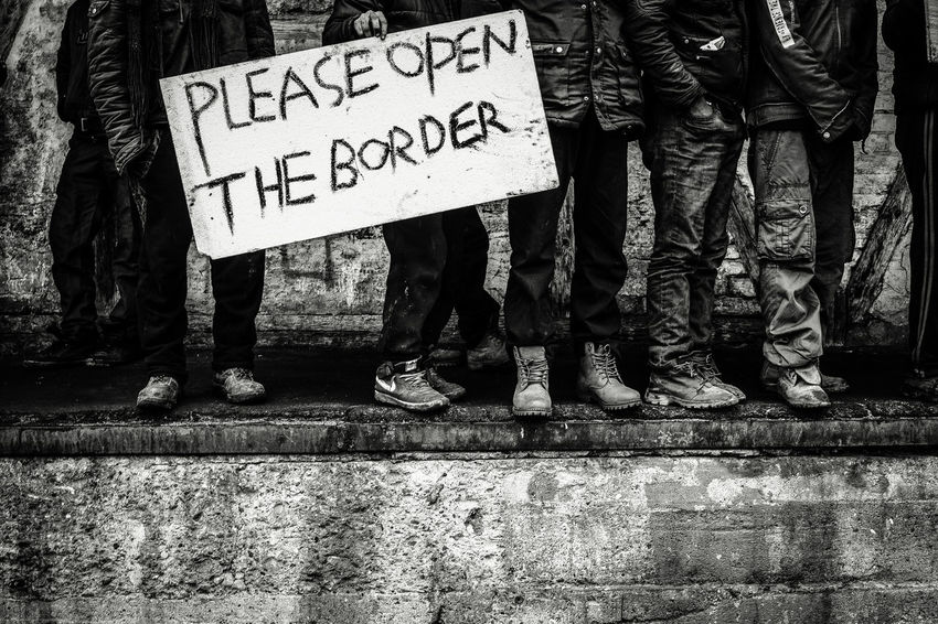 Silent scream. Refugees appeal to European community's sensibility Appeal Belgrade Black And White Borders Bottleneck Crisis Fugitive Indifference Migrants Open Borders Protest Refugees Reportage Resist Silent Scream Social Issues Solidarity Black And White Friday