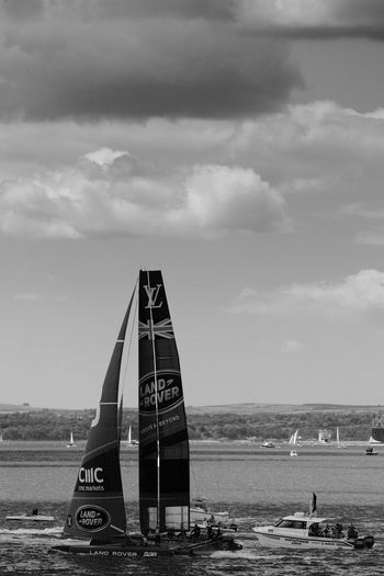 Coming Out America's Cup World Series Ben Ainslee Black And White Blackandwhite Land Rover Sea