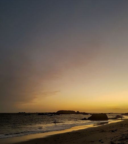 Beach Sea Sand Sunset Horizon Over Water Sky Outdoors Nature Tranquility Scenics Water Travel Destinations Low Tide Tranquil Scene Dusk Landscape No People Horizon Vacations Beauty In Nature