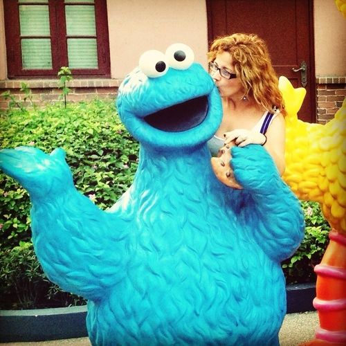 Cookie Monster and Roci!!! Two crazy friends!!!