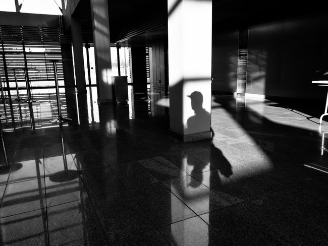 Indoors  Built Structure Day Men Architecture People The City Light Black And White Streetphotography Huawei Street Photography Mobile_photographer Mobilephotography Mobile Phone Poland HuaweiP9 Mobile Photography Silhouette Shadows & Lights Light The Street Photographer - 2017 EyeEm Awards