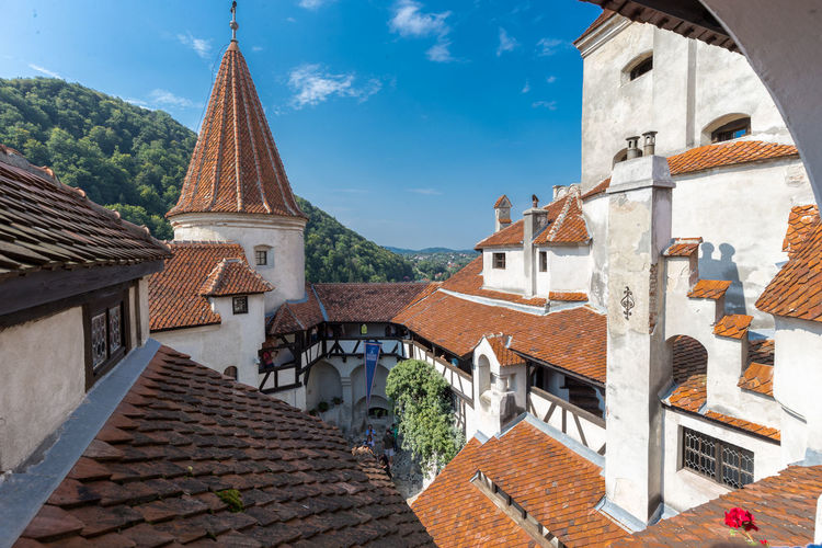 Bat Batman Bran România Dracula Romania Architecture Bran Castle Building Exterior Built Structure Cloud - Sky Day Dracula's Castle Outdoors Roof Sky Tiled Roof  First Eyeem Photo