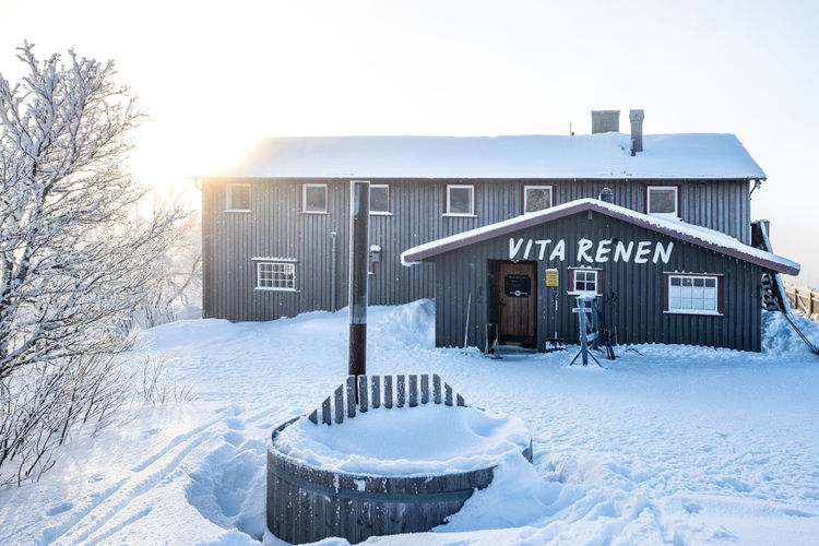 Vita Renen restaurant in the mountains Architecture Bare Tree Beauty In Nature Building Exterior Built Structure Cold Temperature Day House Nature No People Outdoors Sky Snow Snowdrift Tree Weather White Color Winter
