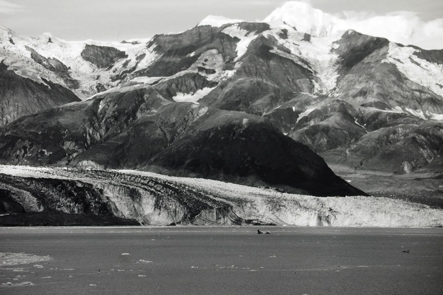 A taste of Alaska - The Hubbard Glacier Nature Sky Landscape Snow Day Road Outdoors Tranquility Mountain Blackandwhite Photography Scenics Beauty In Nature No People Mountain Road Tranquil Scene Mountain Range Hubbard Glacier Cold Temperature Alaskan Nature Perspectives On Nature