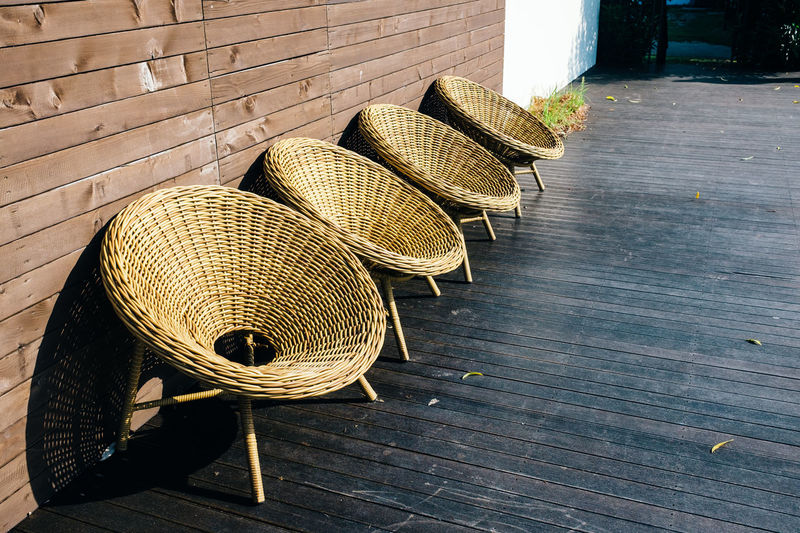 Time to sunbathe Chair Circle Daylight Design Four Furniture Interior Interior Design Jeju JEJU ISLAND  Large Group Of Objects Minimalism Minimalobsession No People Outdoors Relaxing Resort Resting Shadow Shadows & Lights Sunbathing Sundeck Sunlight Sunny Sunny Day