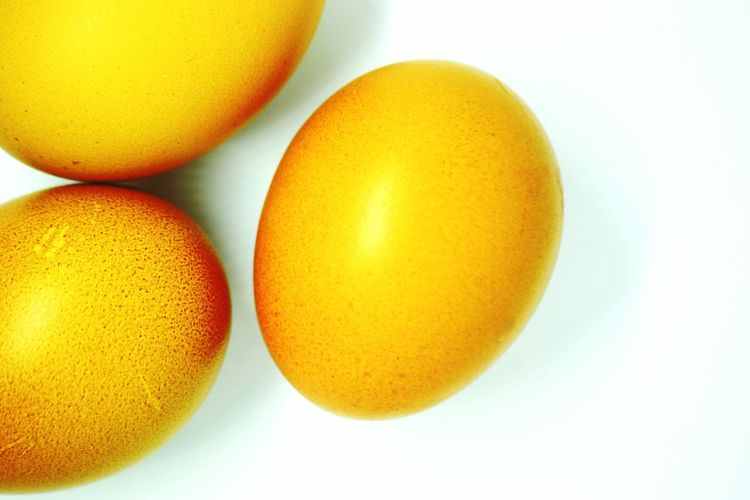 Close-up of yellow eggs