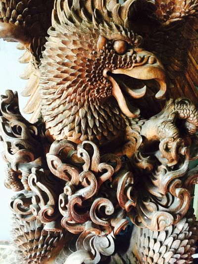 Bali, Indonesia Close-up Eagle - Bird Mythology Powerful Nature Sculpture Statue Wood