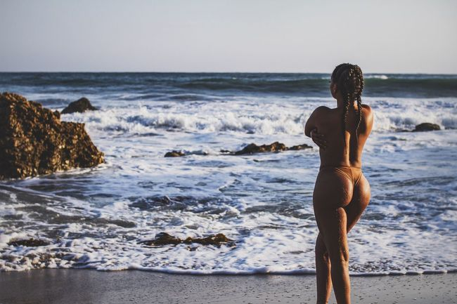 That time of day - Sea Rear View Beach Outdoors Photoshoot Taking Photos Model Sexygirl Modeling Beachphotography Beautiful Woman Photographer Bikini Portrait SexyGirl.♥ Bikini👙