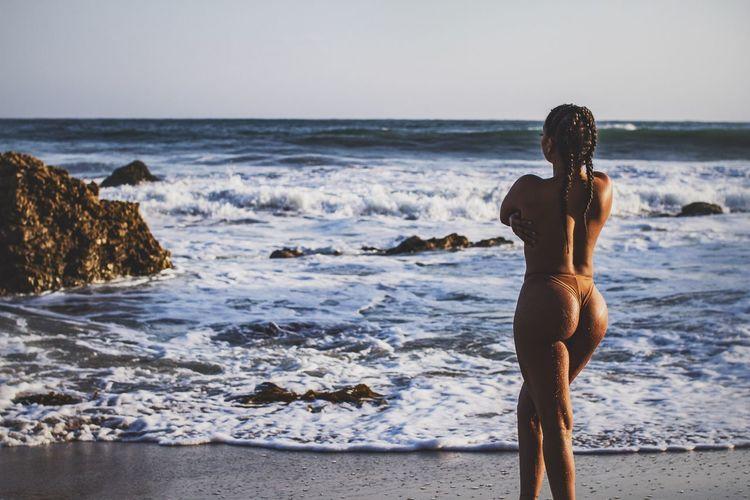 That time of day - Sea Rear View Beach Outdoors Photoshoot Taking Photos Model Sexygirl Modeling Beachphotography Beautiful Woman Photographer Bikini Portrait SexyGirl.♥ Bikini👙