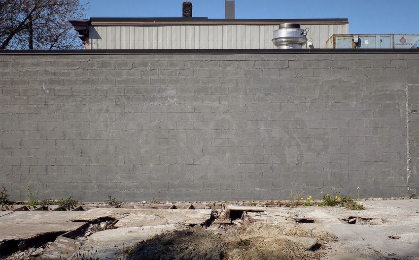 Vacant Lot Wall Industrial Concrete Minimalism