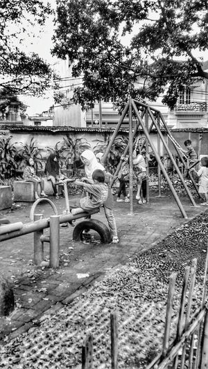 Feel The Journey First Eyeem Photo KeepSmile 43 Golden Moments Childsplay Playground Happyramadhan Boy And Girl