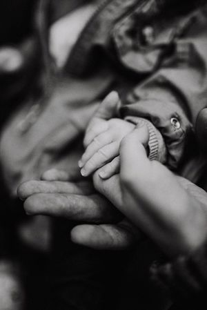 Family Togetherness Human Hand Two People Real People Bonding Love Childhood Care Holding New Life Human Body Part Newborn Close-up Fragility