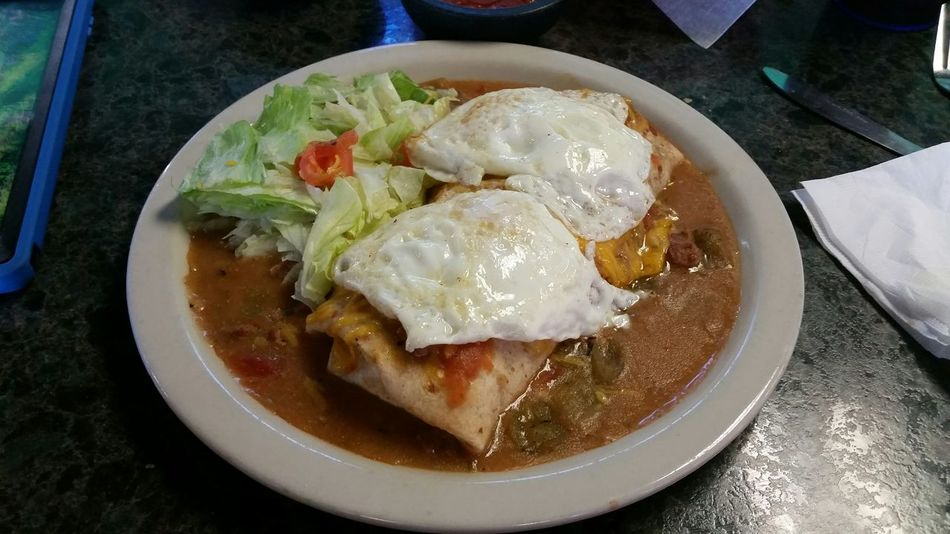 My World Of Food The Sal's Burro Tacos Burro Eggs... Breakfast ♥