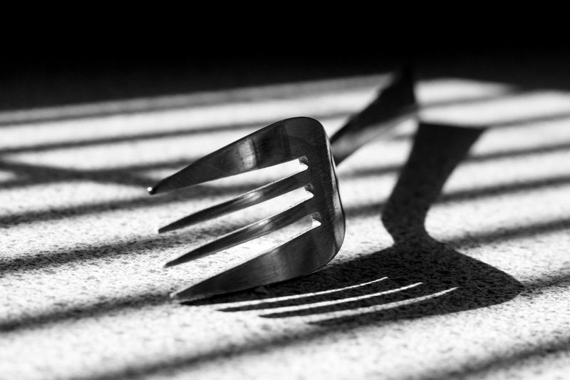 Close-up of a fork