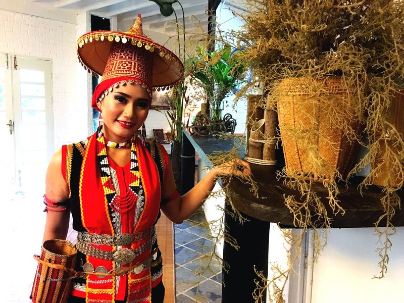 Beauty Pageant, Kumau Gawai Taee 2018 Cultures Tradisional Dayak Borneo Beauty Pageant Sarawak Gawai Kumau Taee Bidayuh One Person Real People Front View Young Adult Women Standing Day Lifestyles Young Women Clothing Adult Portrait Females
