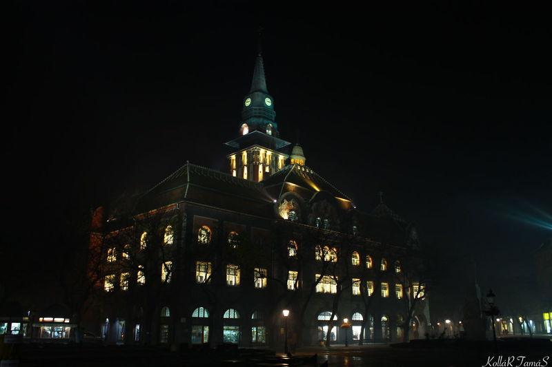 Cityhouse Lights Nightphotography Tower House