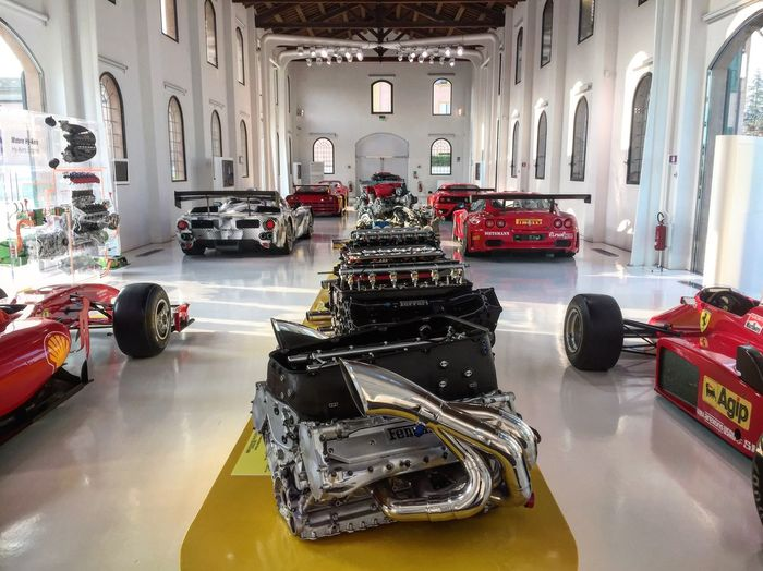 No People Indoors  Architecture Day Ferrari Ferrari World Ferrariworld Engine Historical Racing Evolve Evolution  Naturally Aspiration Turbo Race Racer Racecar Race For Life Cars Supercar Car Lover