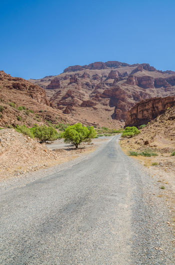 Mountain Range Mountain Morocco Street Road African Africa Nature Scenery Landscape