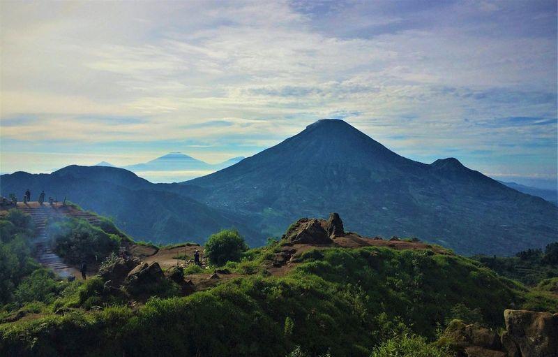 Green Beauty In Nature Central Java Cloud - Sky Dieng Environment Hikingadventures Landscape Merapi Mountain Mountain Peak Mountain Range Nature No People Non-urban Scene Scenics - Nature Sky Wonosobo