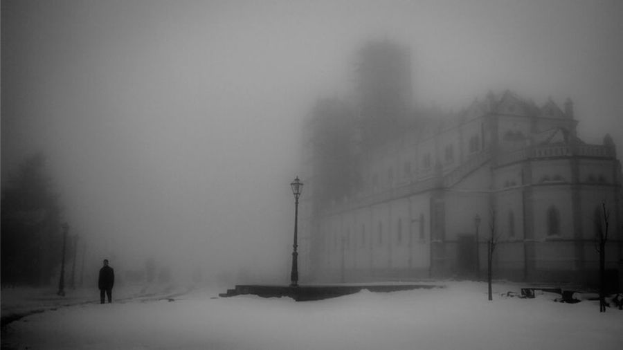 Outdoor Photography No People Croatia Panoramic Photography Wildlife Panorama Nature Herzegovina Church Blackandwhite Silhouette Men Fog