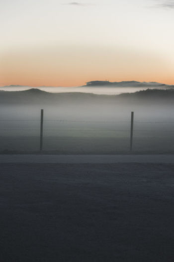 Sunset_collection Beauty In Nature Day Fog Foggy Foggy Landscape Landscape Nature No People Outdoors Poles Scenics Sky Sunset Sunsets Tranquil Scene Tranquility