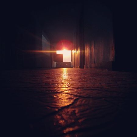 One Fine Evening outside my room I saw this... ATrailOfLight . Sunlight all scattered ober the floor, I took my cam and tried a Click... Well Here it is.... Evening Sunray SaffronSun 12mpClick Groundlevel . : Sreeni