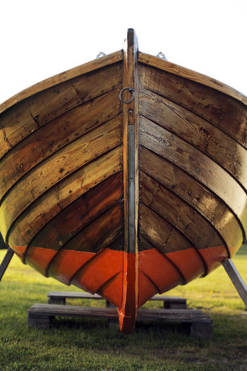 Old wooden boat Wood - Material No People Mode Of Transportation Outdoors Brown Old Boat Boating