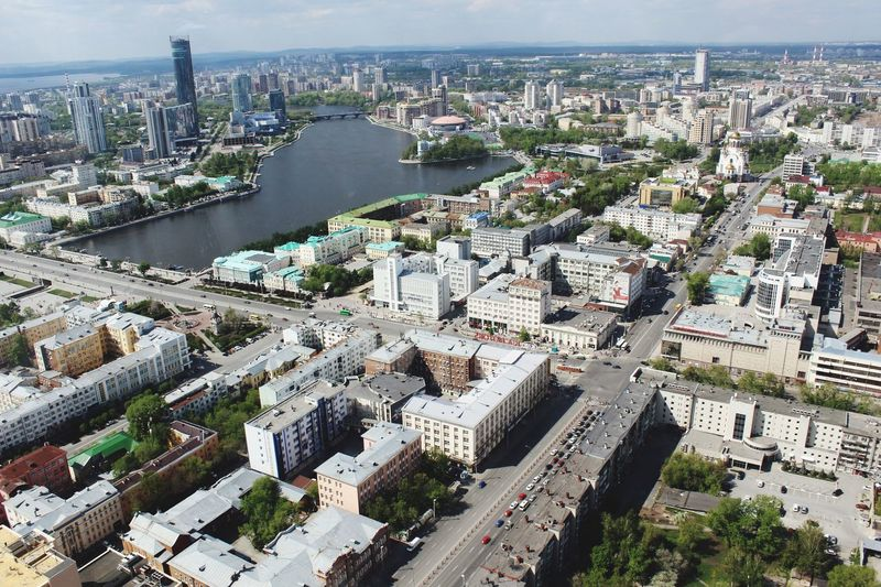 Ekaterinburg Yekaterinburg Building Exterior City Architecture Built Structure Cityscape High Angle View Building Residential District Crowd Crowded Nature Day Transportation Water Aerial View Sky Office Building Exterior Outdoors Skyscraper