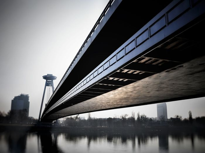 Architecture Connection City River Low Angle View Reflection No People Outdoors Bridge Built Structure Bratislava Danube
