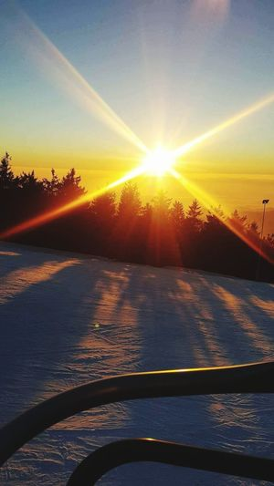Silence over mountain Sunset Ski Snow Sun Winter Sunset Silence Sunset Sunlight Sun Scenics Outdoors No People Nature