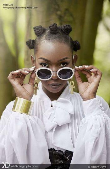 Ankh AnkhBearer Nubian Queen Blackandwhite Noiretblanc Nature Fashion Sunglasses Bantu Knots Hair African Beauty Africa England First Eyeem Photo