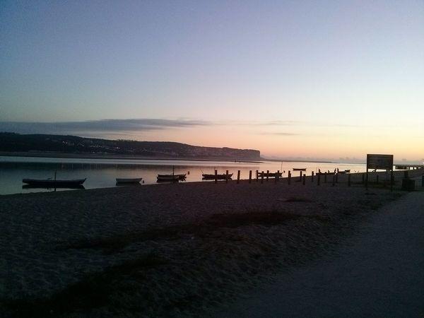River Riverside Sunset Horizon