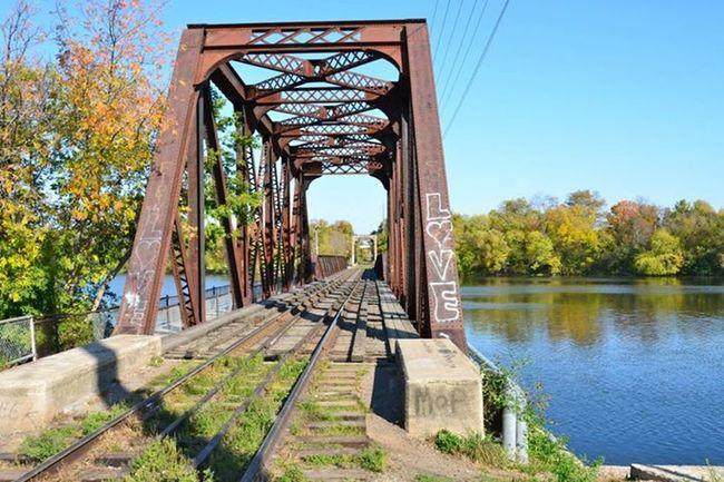 Near And Far Bridge Train Tracks Train